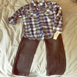 NWT Calvin Klein Boy's 2 piece set